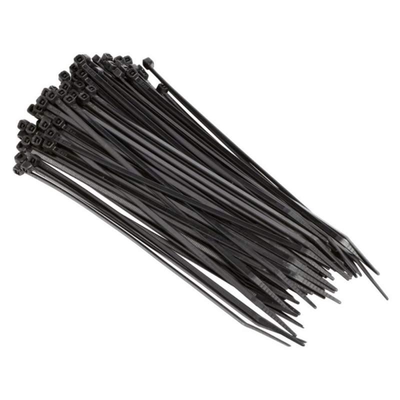 2 5x100 mm kabelbinder schwarz uv gesch tzt 100 st g nstig schra 0 99. Black Bedroom Furniture Sets. Home Design Ideas